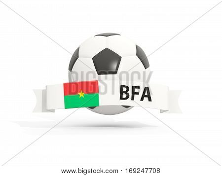Flag Of Burkina Faso, Football With Banner And Country Code