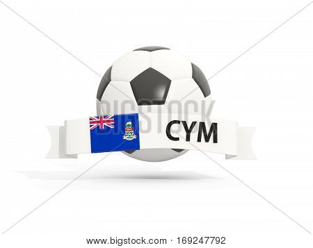 Flag Of Cayman Islands, Football With Banner And Country Code