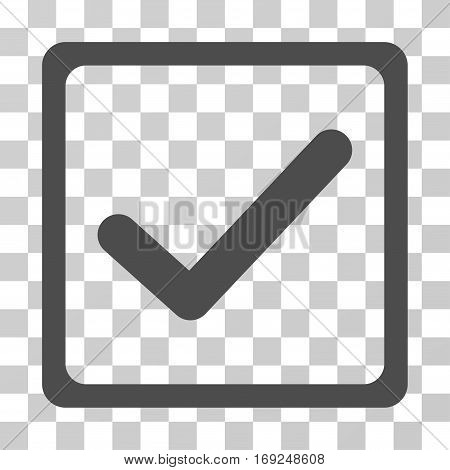 Checkbox icon. Vector illustration style is flat iconic symbol gray color transparent background. Designed for web and software interfaces.