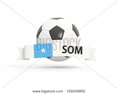 Flag Of Somalia, Football With Banner And Country Code