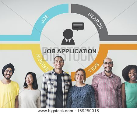 Job Team Join Work Hiring Hired Employed Concept