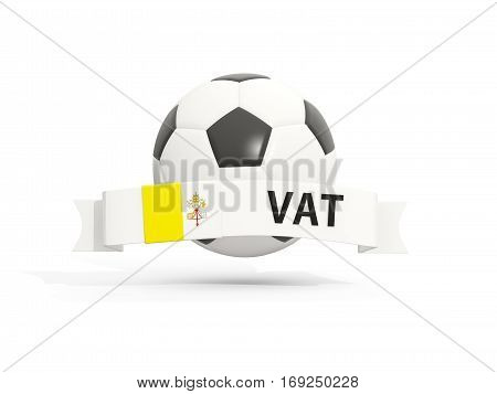 Flag Of Vatican City, Football With Banner And Country Code