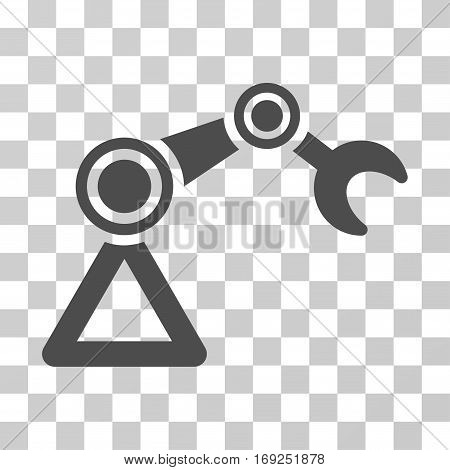Manipulator Equipment icon. Vector illustration style is flat iconic symbol gray color transparent background. Designed for web and software interfaces.