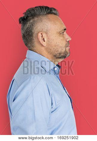 Adult Man Natural Confident Portrait Concept