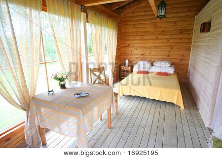 bedroom on summer cottage