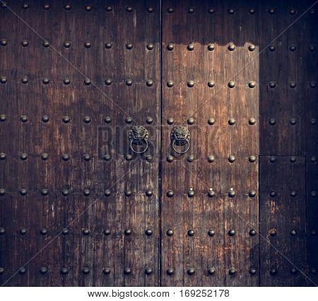 Wooden Antiqur Door Aged Decor Detail Timber