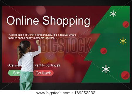 Merry Christmas Big Sale Concept