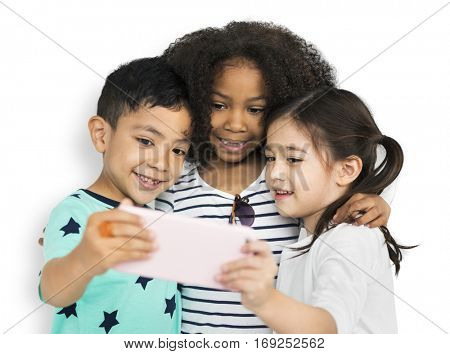 Little Children Selfie Posing Concept