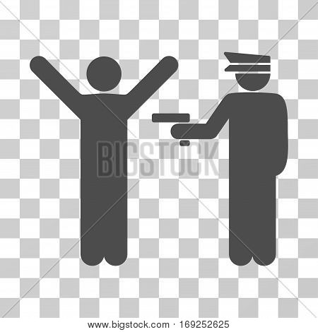 Police Arrest icon. Vector illustration style is flat iconic symbol gray color transparent background. Designed for web and software interfaces.