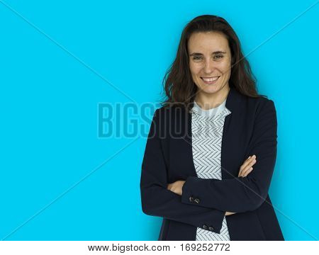 Businesswoman Smiling Happiness Portrait
