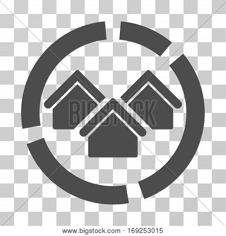 Realty Diagram icon. Vector illustration style is flat iconic symbol gray color transparent background. Designed for web and software interfaces.