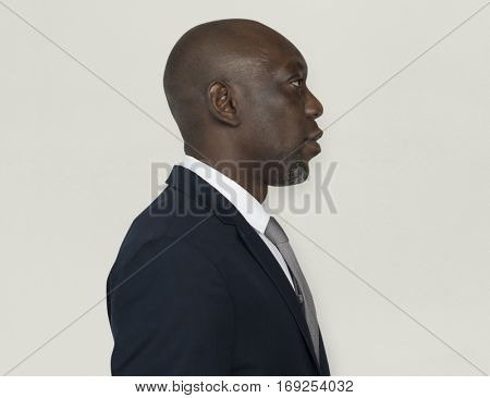 African Descent Man Side Concept