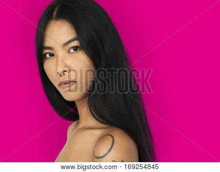 Asian Woman Stylish Studio