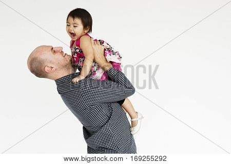 Family Father Daughter Smiling Happiness Love Concept