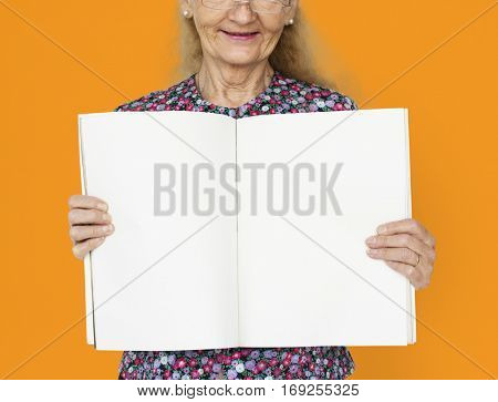Woman Smiling Happiness Banner Copy Space Portrait Concept