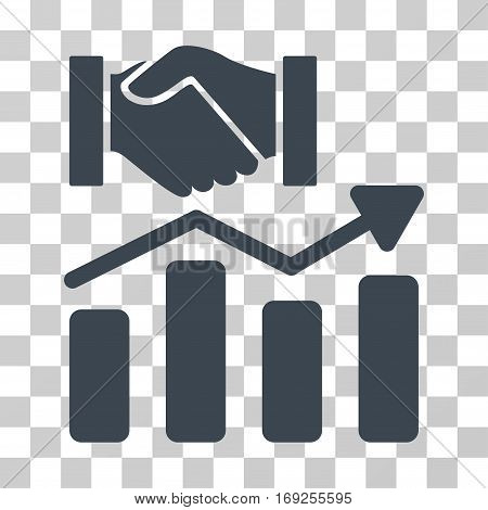 Acquisition Hands Graph Trend icon. Vector illustration style is flat iconic symbol smooth blue color transparent background. Designed for web and software interfaces.