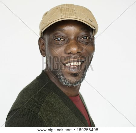 African Male Smiling Portrait Concept