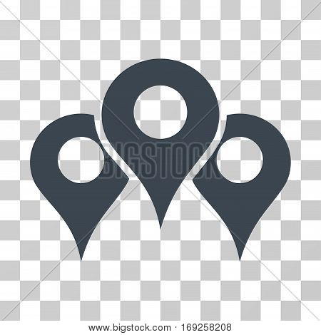 Map Locations icon. Vector illustration style is flat iconic symbol smooth blue color transparent background. Designed for web and software interfaces.
