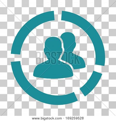 Demography Diagram icon. Vector illustration style is flat iconic symbol soft blue color transparent background. Designed for web and software interfaces.