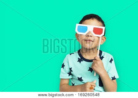 Little Boy With 3D Glasses Concept