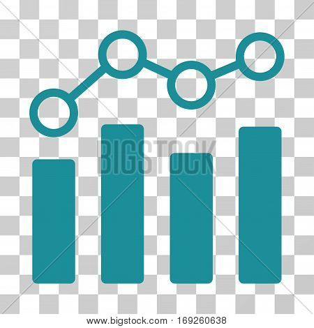 Point Chart icon. Vector illustration style is flat iconic symbol soft blue color transparent background. Designed for web and software interfaces.