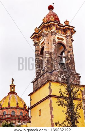 Dome Steeple Convent Immaculate Conception The Nuns San Miguel de Allende Mexico. Convent of Immaculate Conception was created in 1754.
