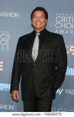 LOS ANGELES - DEC 11:  Gil Birmingham at the 22nd Annual Critics' Choice Awards at Barker Hanger on December 11, 2016 in Santa Monica, CA