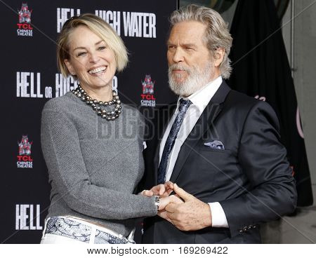 Sharon Stone and Jeff Bridges at Jeff Bridges Hand And Footprint Ceremony held at the TCL Chinese Theatre IMAX in Hollywood, USA on January 6, 2017.