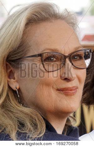 LOS ANGELES - JAN 5:  Meryl Streep at the Viola Davis Star Ceremony at Hollywood Walk of Fame on January 5, 2017 in Los Angeles, CA