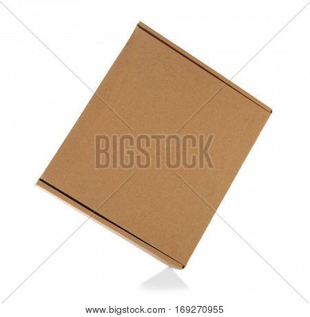 Carton box isolated on white