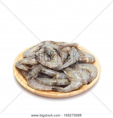 Fresh Shrimp. Studio Shot Isolated On White