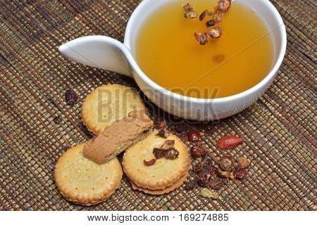 soup and cereal biscuits