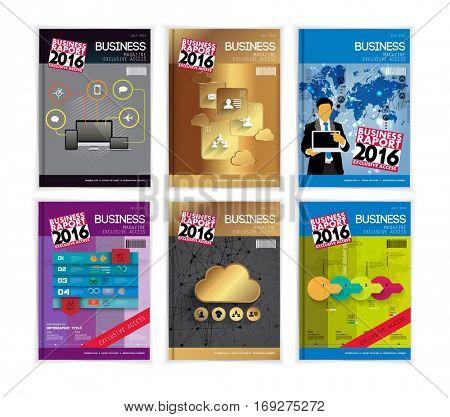 Set of business design templates. Brochure design.