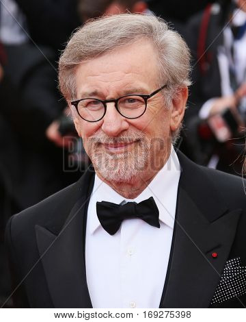 Steven Spielberg attends he screening of 'The BFG' at the annual 69th Cannes Film Festival at Palais des Festivals on May 14, 2016 in Cannes, France.