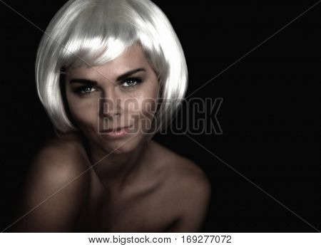 Beautiful woman with Platinum Hair