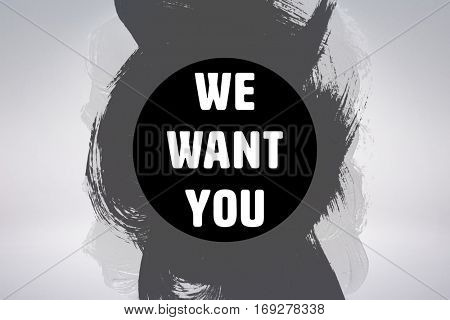 We want you against grey background