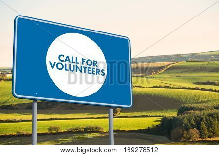 Call for volunteers against scenic landscape