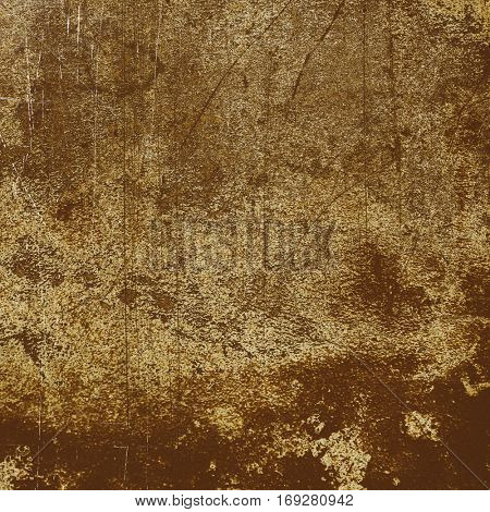 Old grungy texture. Golden concrete wall