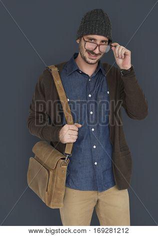 Casual Caucasian Man Smiling