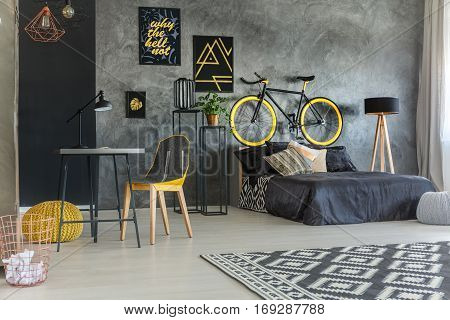Student Room With Bed