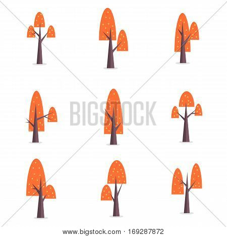 Illustration of tree set various collection stock