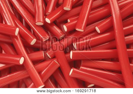 Detail of some delicious red and white Sticks