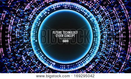 Future Technology Cyber Concept Background. Abstract Hi Speed Digital Design. Security Network Backdrop. Vector Illustration