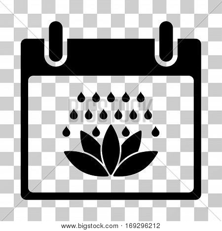 Spa Shower Calendar Day icon. Vector illustration style is flat iconic symbol black color transparent background. Designed for web and software interfaces.