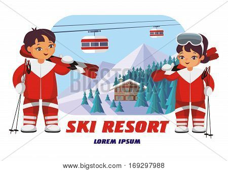 Badge Of Ski Resort.eps