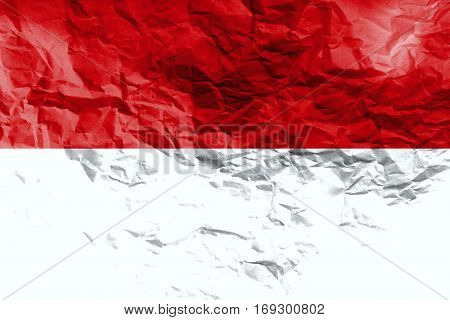 INDONESIA flag  3D illustration symbol. ,3D Original and simple Indonesia flag