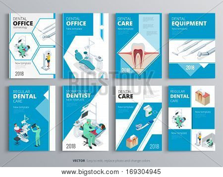 Flyers for Health and Medical concept. Hygiene template of flyer, magazines, posters, book cover, banners. Clinic infographic concept background. Layout dentistry illustrations modern pages.