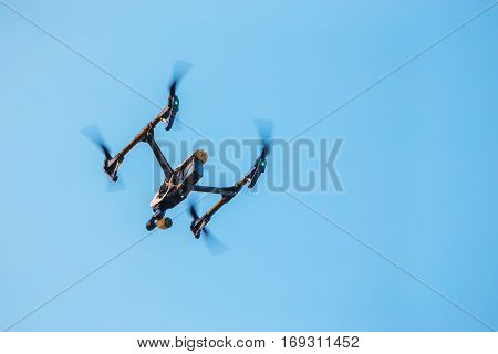 UAV Drone With a Camera in the Sky