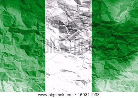 Nigeria flag ,Nigeria national flag 3D illustration symbol