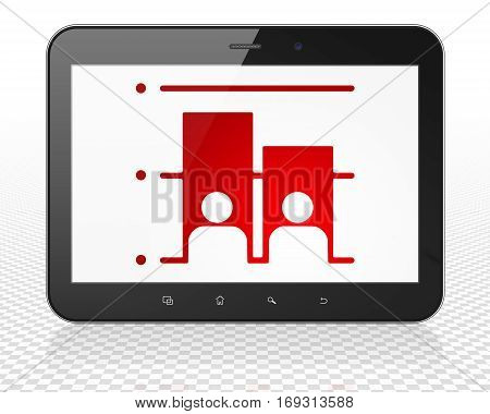 Political concept: Tablet Pc Computer with red Election icon on display, 3D rendering